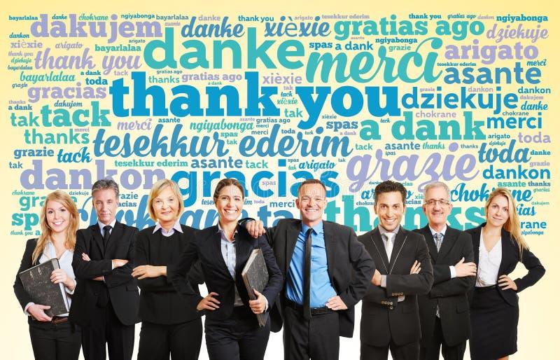 Το ρητό επιχειρησιακών ομάδων σας ευχαριστεί στοκ φωτογραφία με δικαίωμα ελεύθερης χρήσης