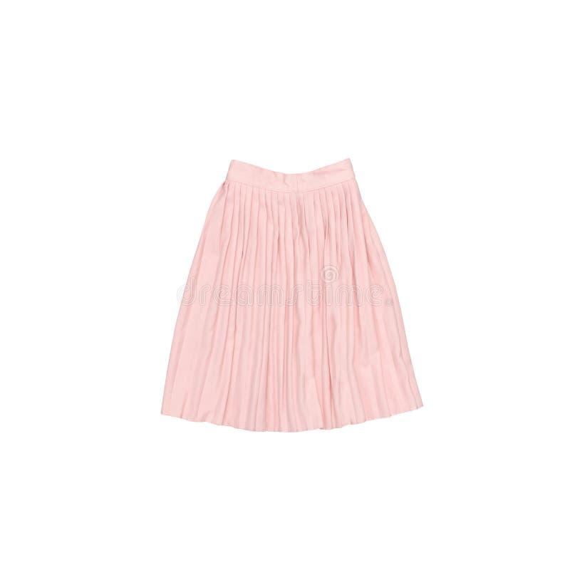 Το ροζ πτύχωσε τη φούστα μοντέρνη έννοια απομονωμένος Άσπρο backgr στοκ εικόνες με δικαίωμα ελεύθερης χρήσης