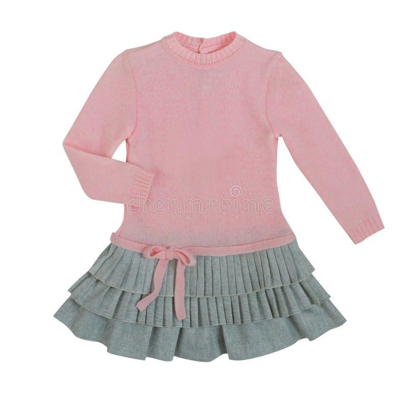 Το ροζ πλέκει το φόρεμα στοκ φωτογραφίες με δικαίωμα ελεύθερης χρήσης