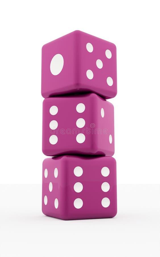 Το ροζ τρία χωρίζει σε τετράγωνα απομονωμένος διανυσματική απεικόνιση
