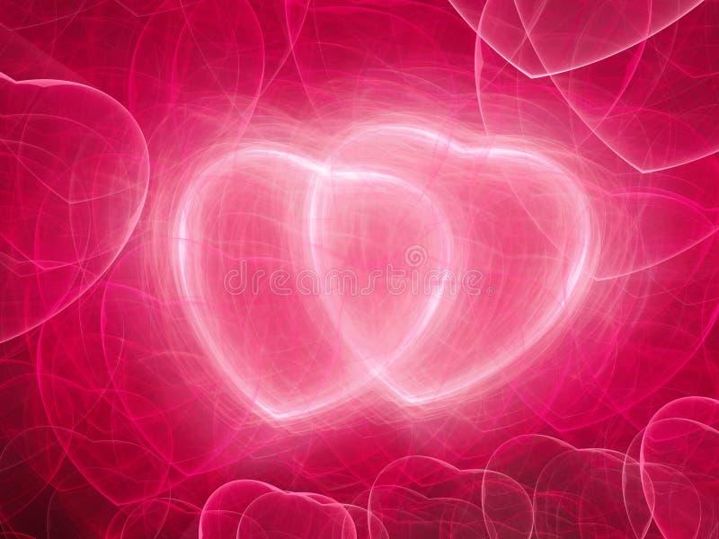 Το ροζ δύο ακούει fractal ελεύθερη απεικόνιση δικαιώματος