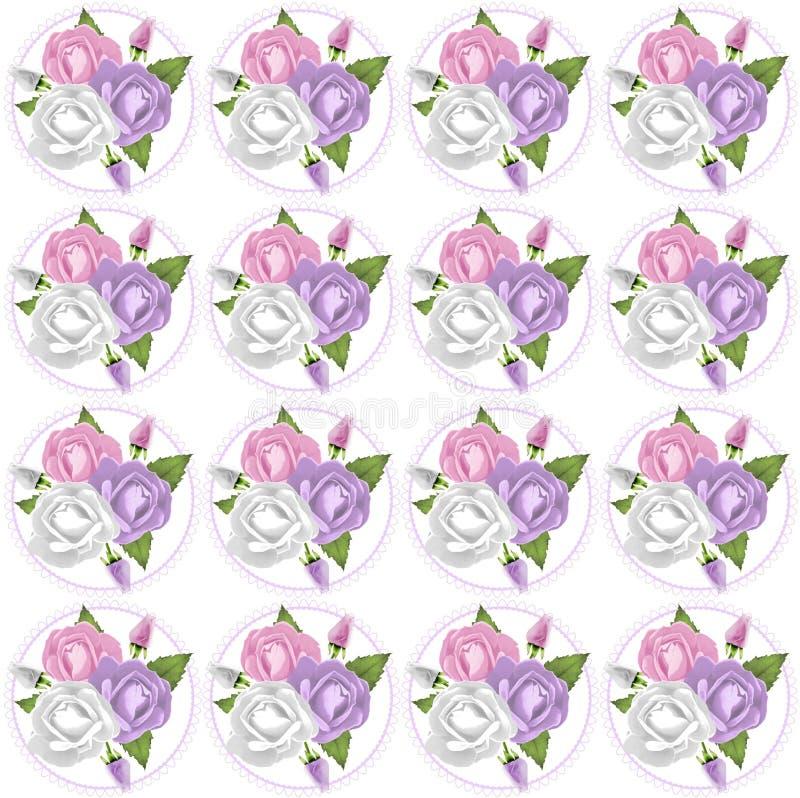 Το ροζ, Lavendar και ρόδινος αυξήθηκε υπόβαθρο διανυσματική απεικόνιση