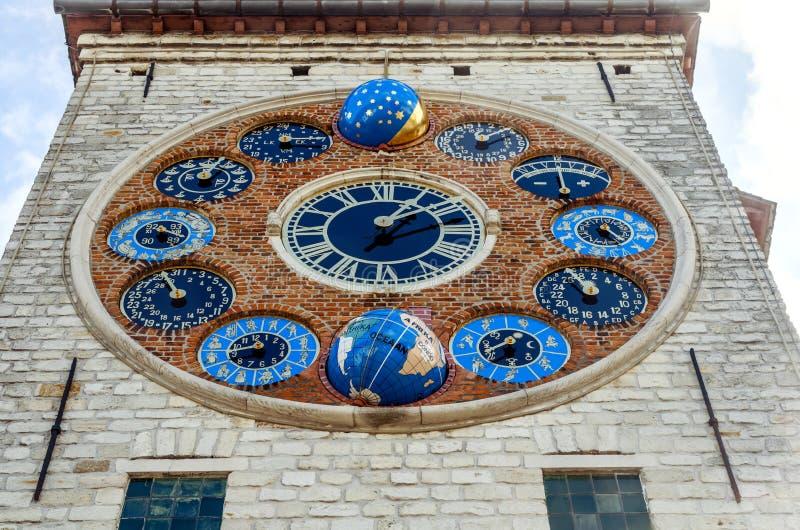 Το ρολόι ιωβηλαίου στον πύργο Zimmer, Lier, Βέλγιο στοκ εικόνες