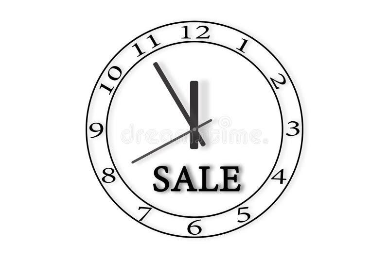 Το ρολόι παρουσιάζει το χρόνο 23: 55 Κάτω από τα χέρια του ρολογιού μέσα απεικόνιση αποθεμάτων