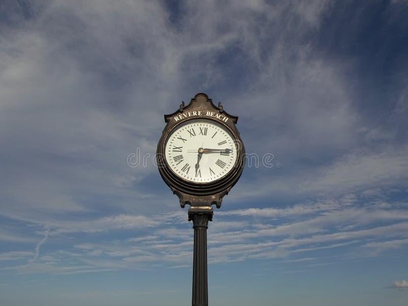 Το ρολόι, σέβεται την παραλία, σέβεται, Μασαχουσέτη, ΗΠΑ στοκ φωτογραφία