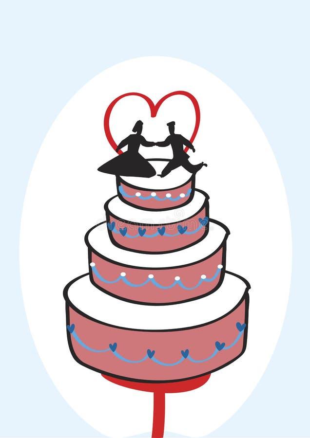 Γαμήλιο κέικ διανυσματική απεικόνιση