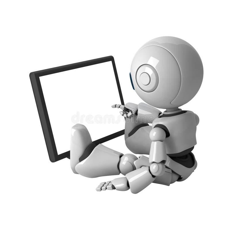 το ρομπότ μηνυτόρων κάθετα&iota διανυσματική απεικόνιση