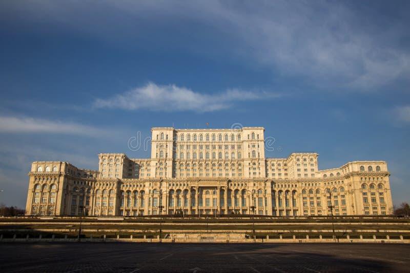 Το ρουμανικό Κοινοβούλιο, Βουκουρέστι στοκ φωτογραφία