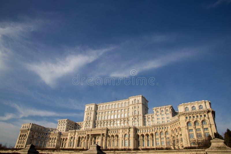 Το ρουμανικό Κοινοβούλιο (Casa Poporului) στοκ φωτογραφία