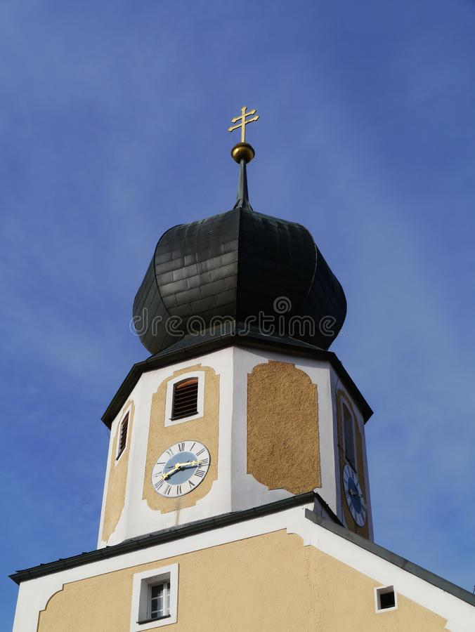 Το ρολόι της μεσαιωνικής εκκλησίας Parsberg στοκ εικόνες