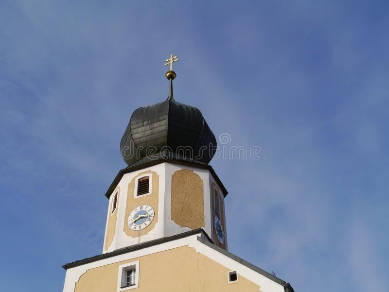 Το ρολόι της μεσαιωνικής εκκλησίας Parsberg στοκ φωτογραφία