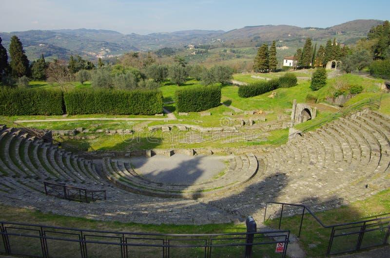 Το ρωμαϊκό θέατρο Fiesole στοκ εικόνες