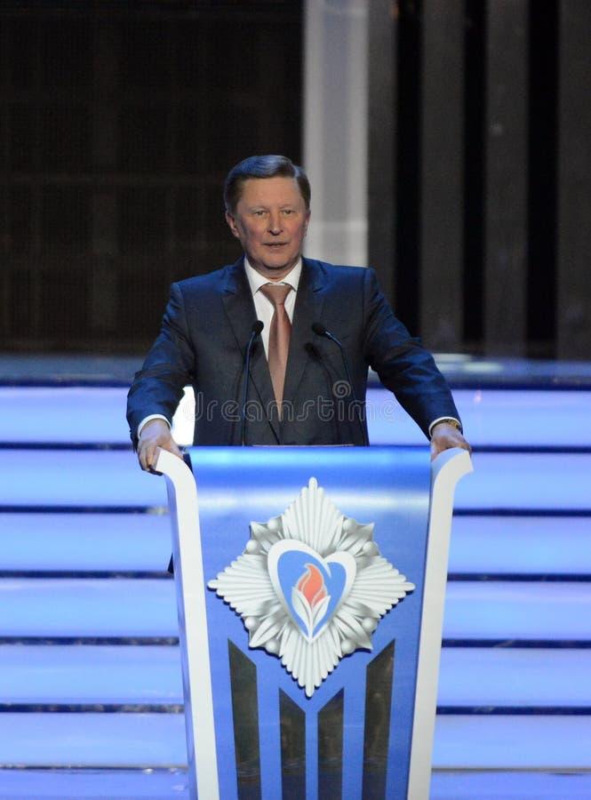 Το ρωσικοί κράτος, πολιτικός και ο στρατιωτικός αρχηγός Μόνιμο μέλος του Συμβουλίου ασφάλειας της Ρωσικής Ομοσπονδίας Sergey Ivan στοκ εικόνα με δικαίωμα ελεύθερης χρήσης