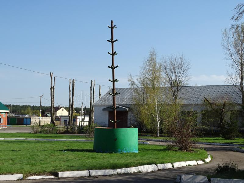 Το ρωσικό χωριό Karamyshevo στοκ φωτογραφία