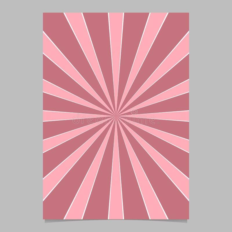 Το ρόδινο αφηρημένο δυναμικό αστέρι εξερράγη το πρότυπο υποβάθρου καρτών - διανυσματικό σχέδιο υποβάθρου φυλλάδιων ελεύθερη απεικόνιση δικαιώματος