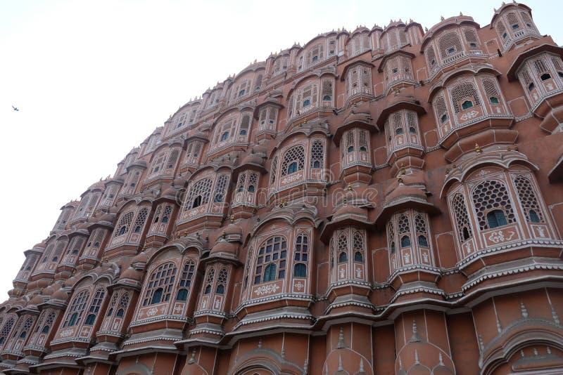 Το ρόδινο παλάτι αέρα στο Jaipur, Rajasthan, Ινδία στοκ φωτογραφία