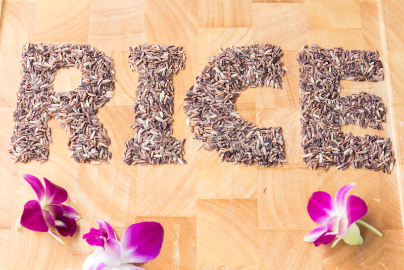 Το ρύζι λέξης στοκ φωτογραφίες με δικαίωμα ελεύθερης χρήσης