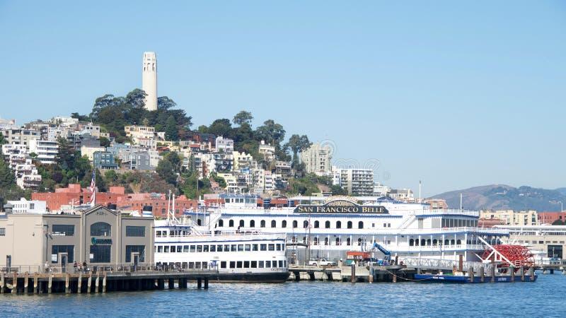Το Σαν Φρανσίσκο Belle που ελλιμενίζεται στο Σαν Φρανσίσκο στοκ φωτογραφία με δικαίωμα ελεύθερης χρήσης