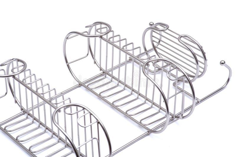 Το σατέν πολυτέλειας τελειώνει το ντους caddy που απομονώνει στο λευκό διανυσματική απεικόνιση