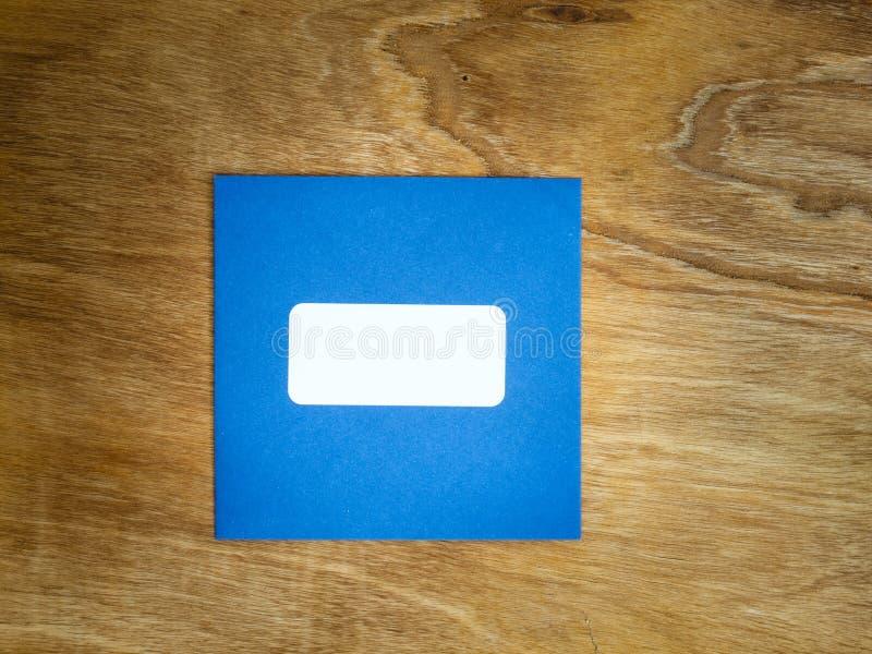 Το σαφές μπλε ο φάκελος στοκ φωτογραφίες