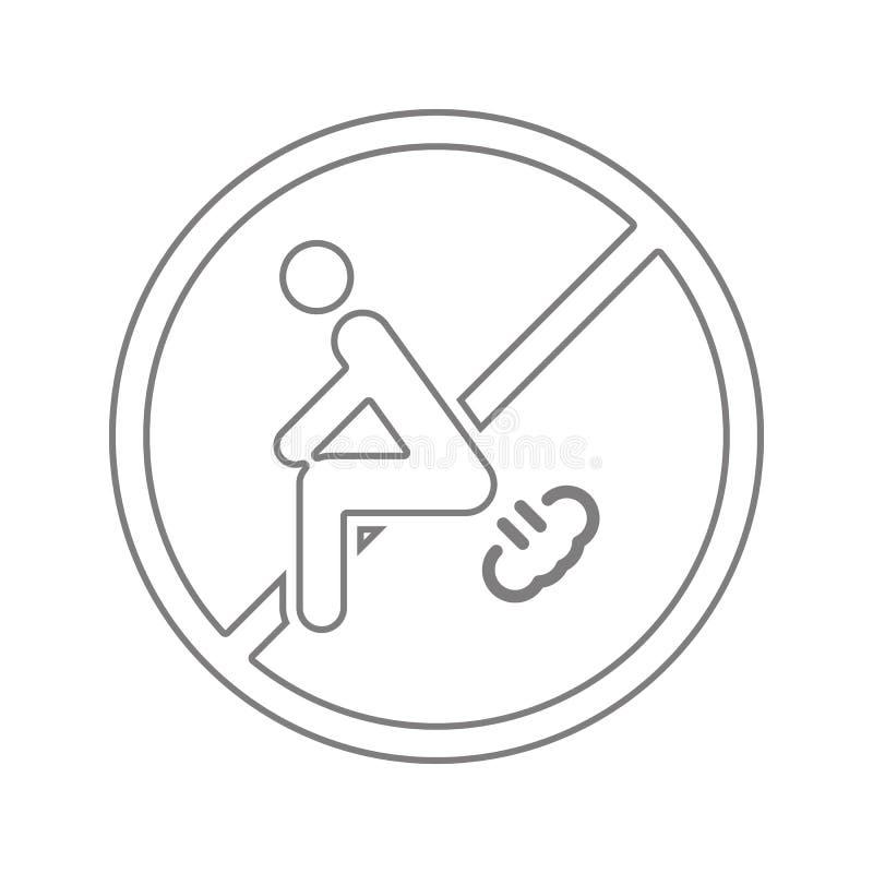 Το σημάδι, δεν κλάνει εικονίδιο Στοιχείο της ασφάλειας cyber του κινητού εικονιδίου έννοιας και Ιστού apps Λεπτό εικονίδιο γραμμώ απεικόνιση αποθεμάτων