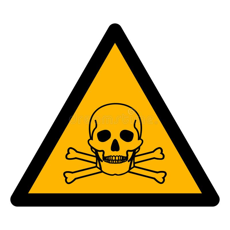 Το σημάδι συμβόλων αμμωνίας Beware απομονώνει στο άσπρο υπόβαθρο, διανυσματική απεικόνιση EPS 10 ελεύθερη απεικόνιση δικαιώματος