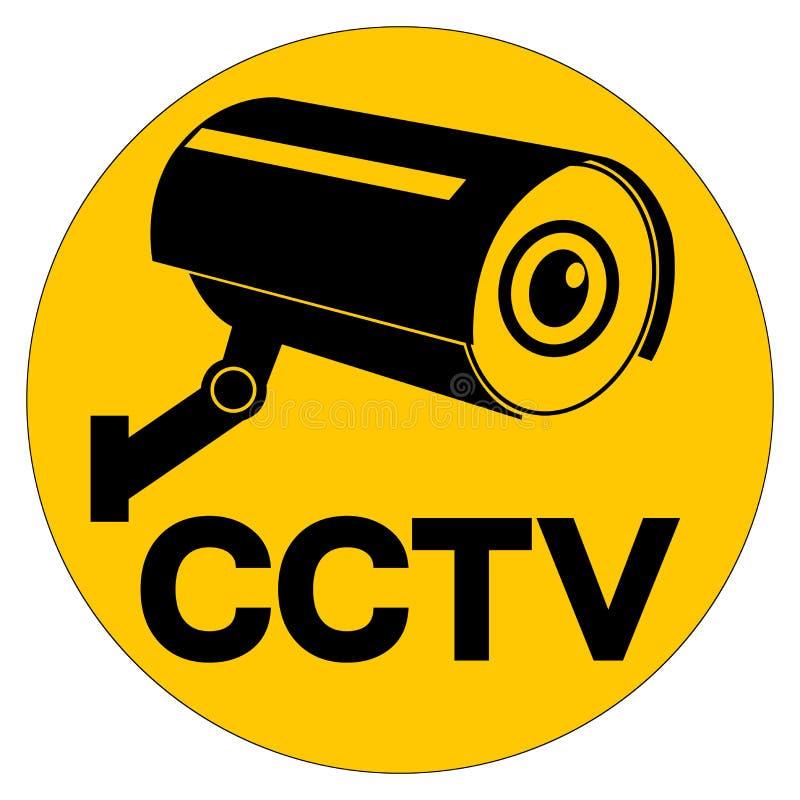 Το σημάδι συμβόλων CCTV, διανυσματική απεικόνιση, απομονώνει στην άσπρη ετικέτα υποβάθρου EPS10 διανυσματική απεικόνιση