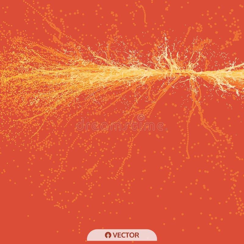 Το σημείο εκρήγνυται Σειρά με τα δυναμικά εκπεμπόμενα μόρια r r r ελεύθερη απεικόνιση δικαιώματος