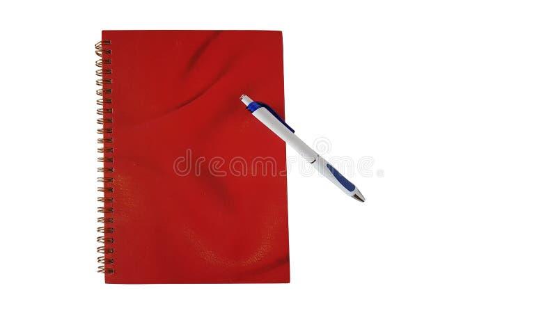 Το σημειωματάριο με τη μάνδρα απομονώνει στοκ φωτογραφία με δικαίωμα ελεύθερης χρήσης