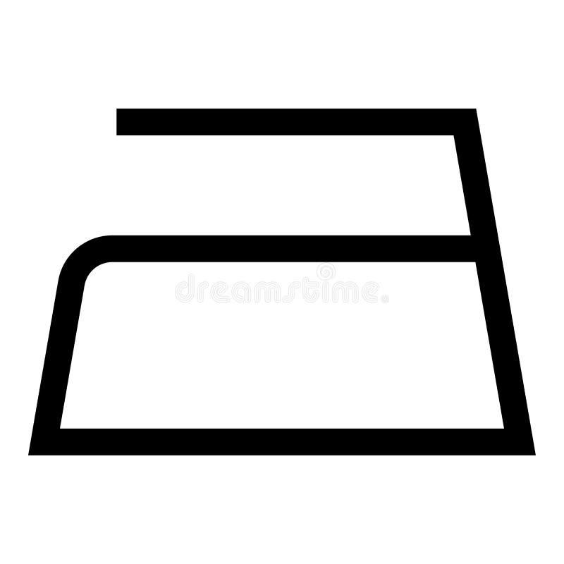 Το σιδέρωμα επιτρέπεται τα σύμβολα προσοχής ενδυμάτων που πλένουν έννοιας πλυντηρίων σημαδιών εικονιδίων τη μαύρη χρώματος διανυσ διανυσματική απεικόνιση