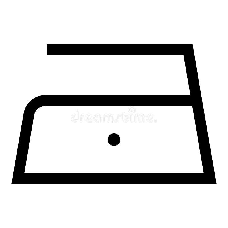 Το σιδέρωμα επιτρέπεται τη χαμηλή αργή θερμοκρασία σε εκατόν δέκα 110 σύμβολα προσοχής ενδυμάτων βαθμών που πλένουν το εικονίδιο  διανυσματική απεικόνιση