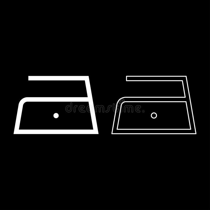 Το σιδέρωμα επιτρέπεται τη χαμηλή αργή θερμοκρασία σε εκατόν δέκα 110 σύμβολα προσοχής ενδυμάτων βαθμών που πλένουν το εικονίδιο  απεικόνιση αποθεμάτων
