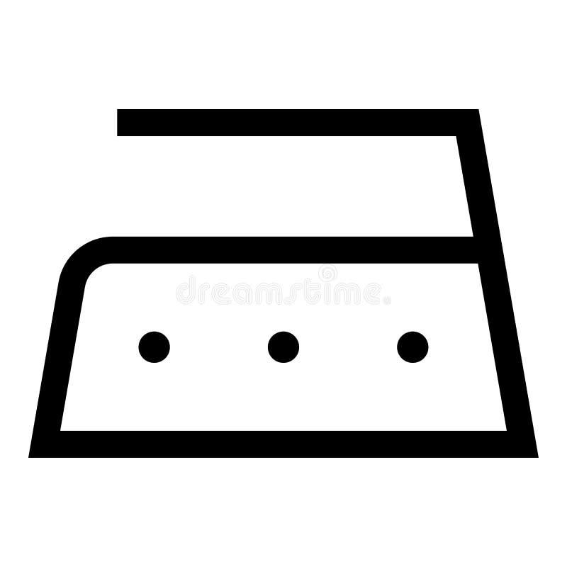 Το σιδέρωμα επιτρέπεται υψηλής θερμοκρασίας σε διακόσια 200 σύμβολα προσοχής ενδυμάτων βαθμών που πλένουν το μαύρο χρώμα εικονιδί απεικόνιση αποθεμάτων
