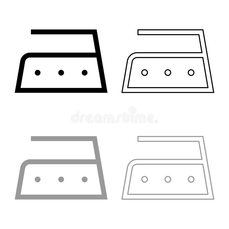 Το σιδέρωμα επιτρέπεται υψηλής θερμοκρασίας σε διακόσια 200 σύμβολα προσοχής ενδυμάτων βαθμών που πλένουν το σύνολο περιλήψεων ει απεικόνιση αποθεμάτων