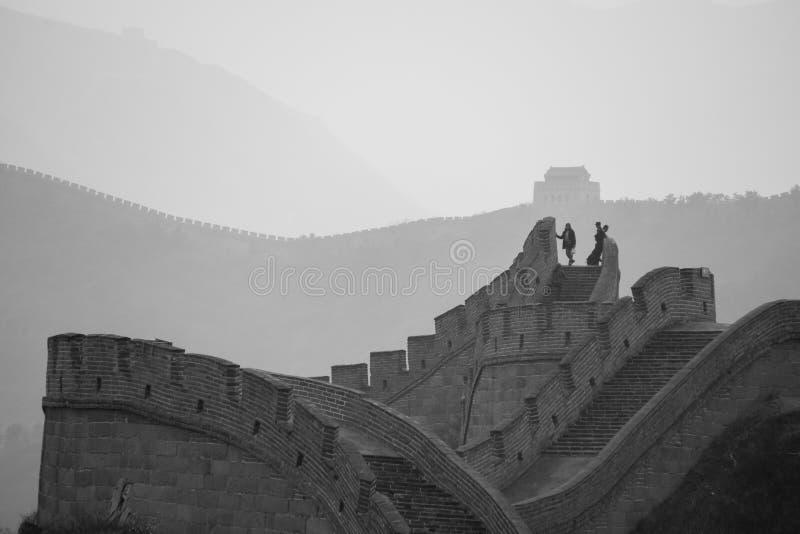 Το Σινικό Τείχος της Κίνας όπως βλέπει από Badaling στοκ εικόνα