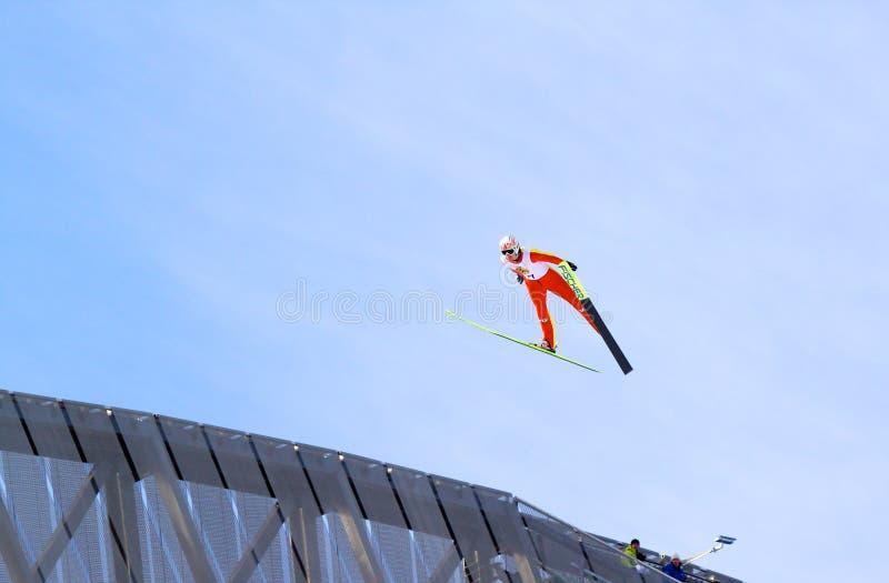 το σκι άλματος στοκ φωτογραφίες με δικαίωμα ελεύθερης χρήσης