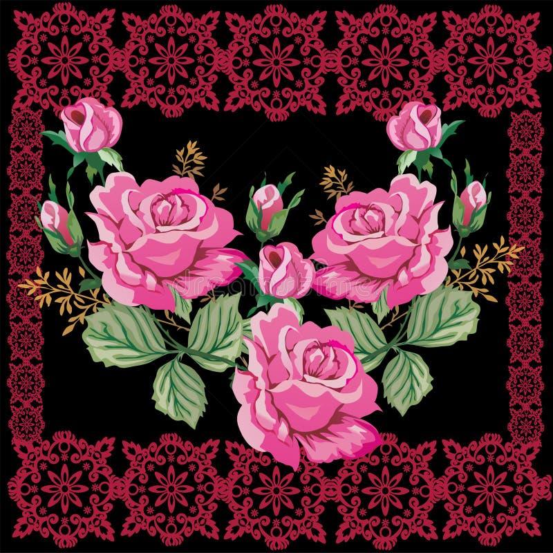 το σκοτεινό ροζ προτύπων π& διανυσματική απεικόνιση