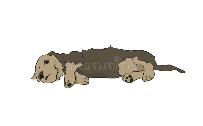 Το σκυλί βρίσκεται, διάνυσμα διανυσματική απεικόνιση
