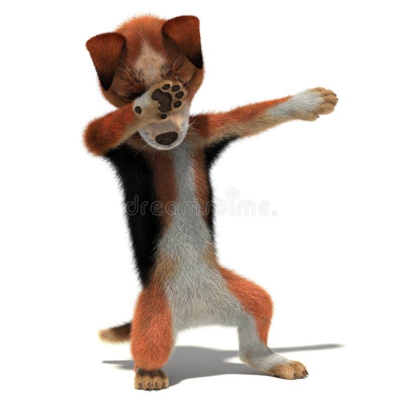 Το σκυλί παρουσιάζει κτύπημα χειρονομίας απεικόνιση αποθεμάτων