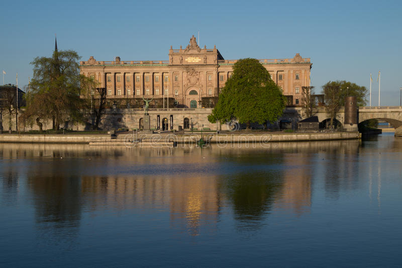 Το σουηδικό Κοινοβούλιο Riksdagshuset, Στοκχόλμη, Σουηδία στοκ εικόνες με δικαίωμα ελεύθερης χρήσης