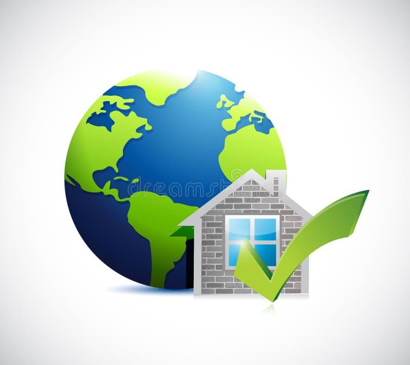 το σπίτι ακίνητων περιουσιών εγκρίνει διεθνή διανυσματική απεικόνιση