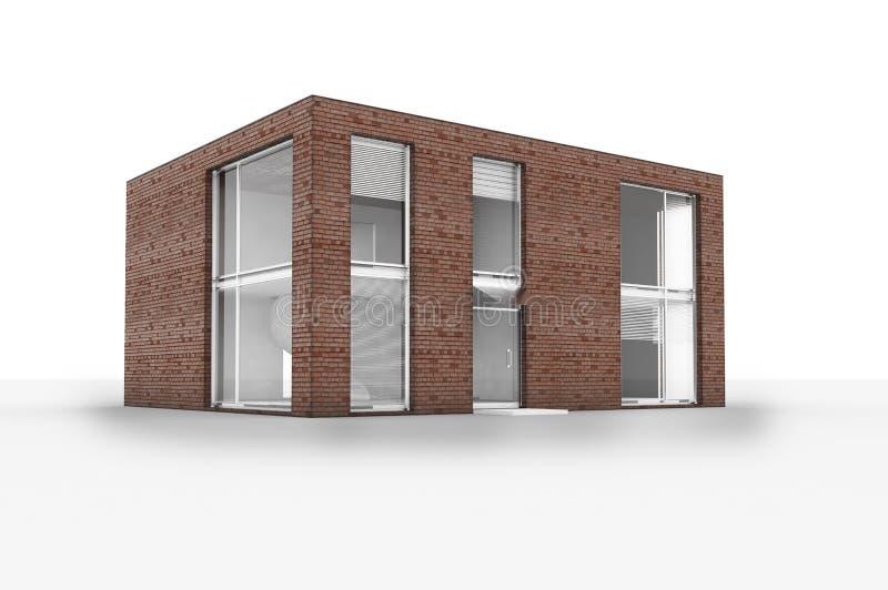 Download το σπίτι απομονώνει σύγχρ&omicron Απεικόνιση αποθεμάτων - εικονογραφία από σπίτι, δομή: 13180232