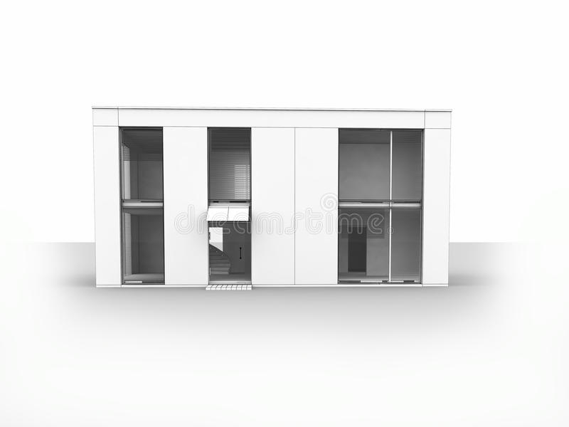 Download το σπίτι απομονώνει σύγχρ&omicron Απεικόνιση αποθεμάτων - εικονογραφία από σχέδιο, μέγαρο: 13180238