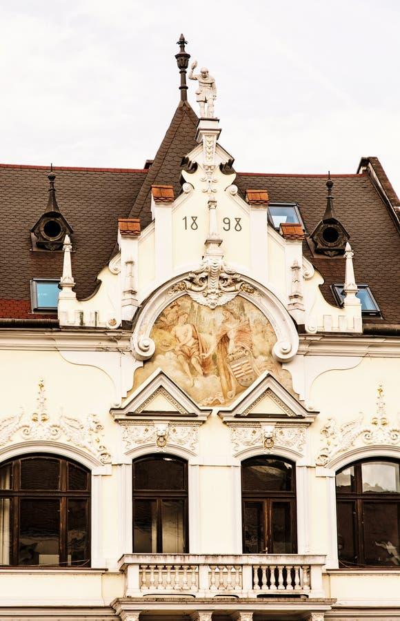 Το σπίτι επαιτών ` s σε Kosice, Σλοβακία, κίτρινο φίλτρο στοκ φωτογραφίες