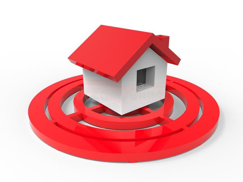 Το σπίτι πωλεί την έννοια απεικόνιση αποθεμάτων