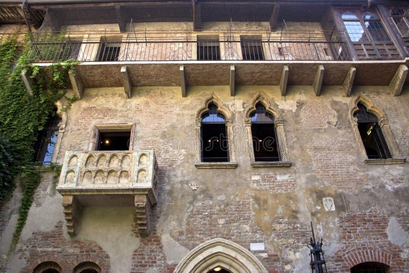Το σπίτι της Julia στη Βερόνα στοκ εικόνες