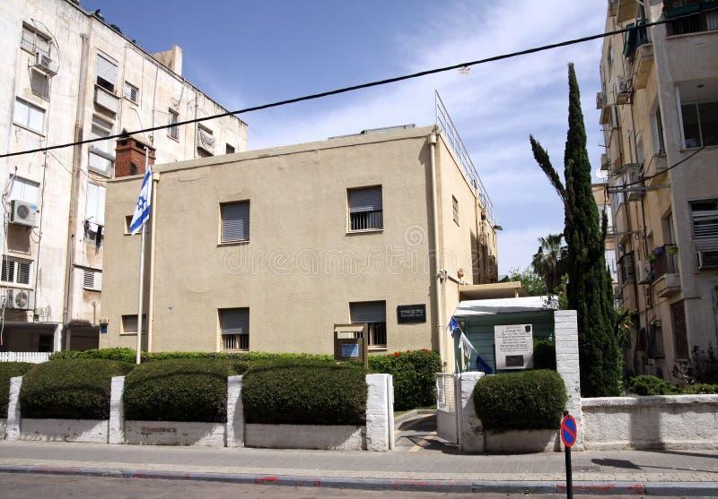 Το σπίτι του πρώτου Προέδρου του Ισραήλ, Δαβίδ Ben Gurion μέσα στοκ εικόνα με δικαίωμα ελεύθερης χρήσης