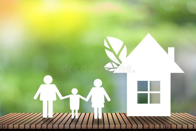 Το σπίτι - φυσικό πράσινο υπόβαθρο - η έννοια της παγκόσμιας αύξησης της θερμοκρασίας λόγω του φαινομένου του θερμοκηπίου και κερ στοκ φωτογραφίες