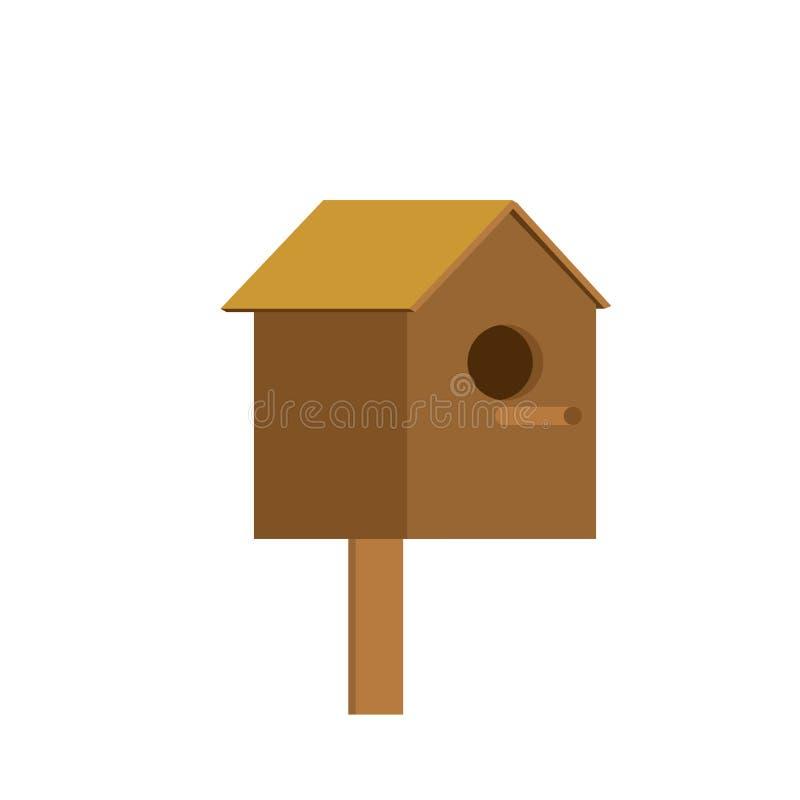 Το σπίτι ψαρονιών είναι απομονωμένο Σπίτι για τα πουλιά επίσης corel σύρετε το διάνυσμα απεικόνισης ελεύθερη απεικόνιση δικαιώματος