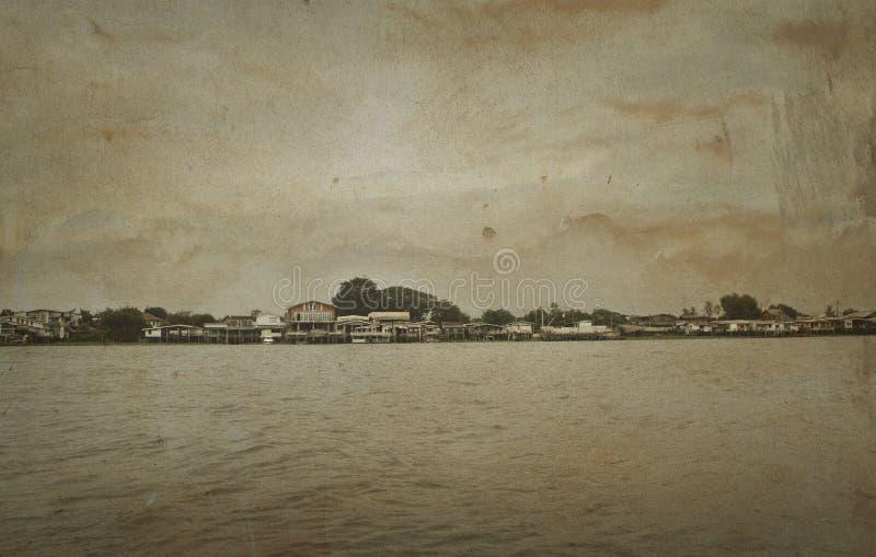 Το σπίτι riverfront στη Μπανγκόκ στοκ φωτογραφία